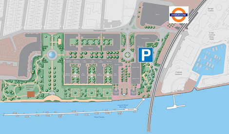 Imperial Wharf Marina Location Map